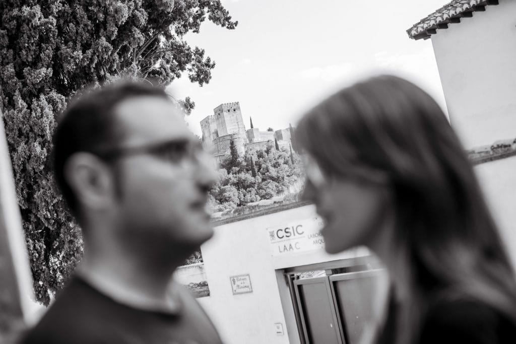 pareja preboda en Granada