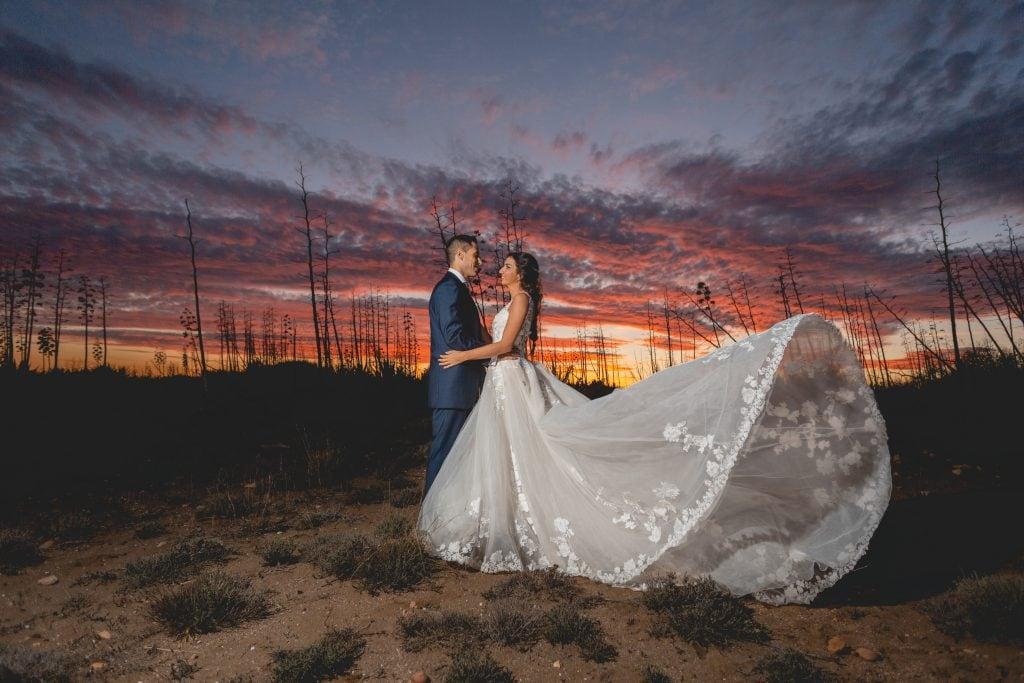 La pareja en su post boda realizada por el fotógrafo profesional AndererWinkel en Cabo de Gata (Almería)