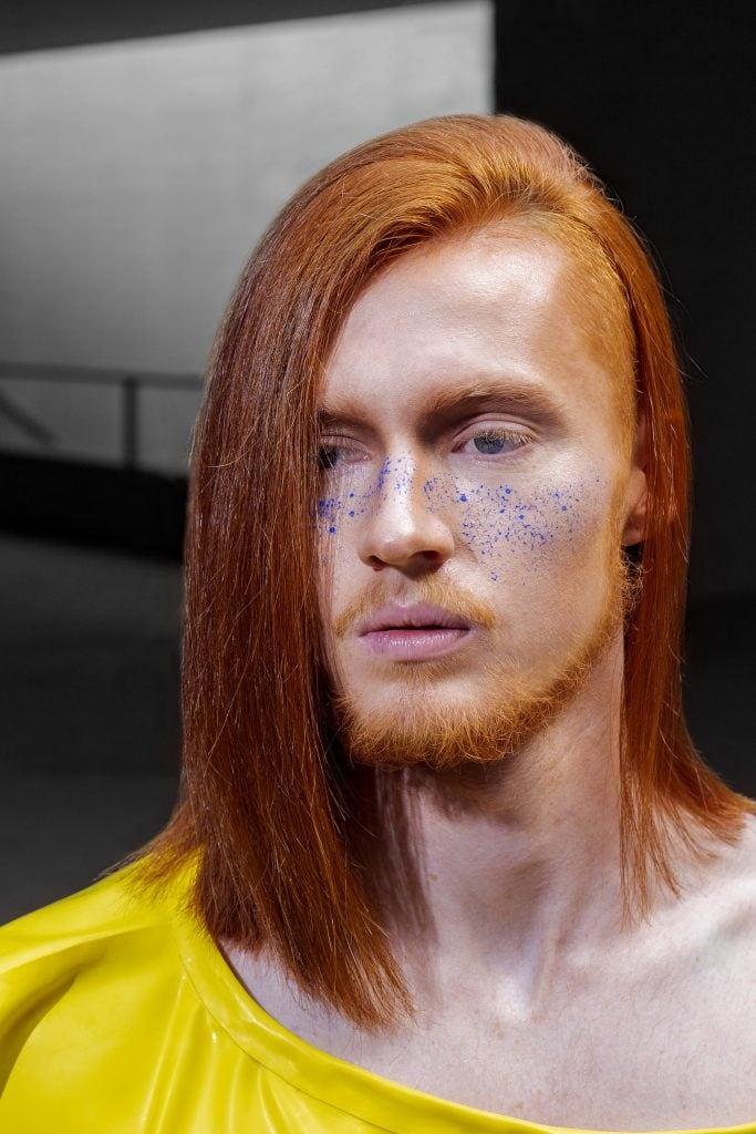 Fotografía de la colección Bauhair de Juan Luis Soria ganadora del Premio de la Prensa de los Premios Picasso de peluquería.