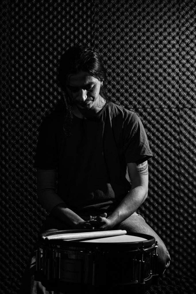 Retrato batería profesional